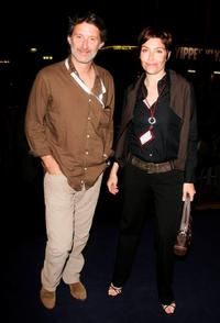 Antoine de Caunes and Daphne Roulier at the premiere of