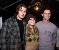 Brendan Fehr, Majandra Delfino and Jason Behr at the UPN private party.