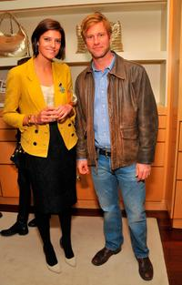 Lawren Howell and Aaron Eckhart at the Mothers Day toast.