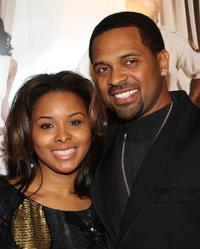 Mike Epps and his guest at the premiere of