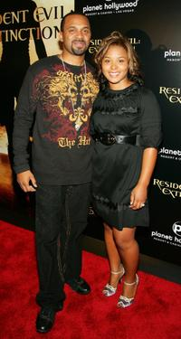 Mike Epps and his wife Mechelle at the premiere of