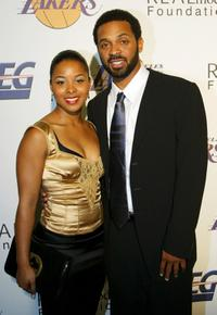 Mechelle McCann and Mike Epps at the special night of partying to benefit the Lakers Youth Foundation.