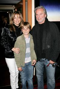Trevor Eve, Sharon Maughan and their son at the premiere of