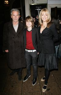 Trevor Eve and his family at the Equus VIP Press Night.