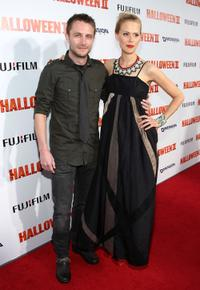 Chris Hardwick and Janet Varney at the premiere of