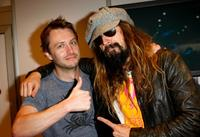 Chris Hardwick and Rob Zombie at the signing session of