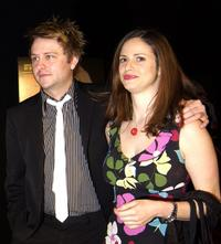 Chris Hardwick and Andrea Savage at the premiere of