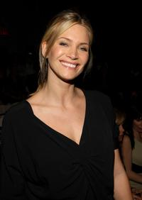 Natasha Henstridge at the Nicole Miller Fall 2008 fashion show during Mercedes-Benz Fashion Week Fall.