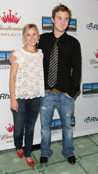 Kristen Bell and Sam Huntington at the re-launch of Triggerstreet.com.