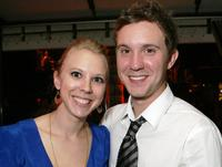 Rachel Huntington and Sam Huntington at the premiere of