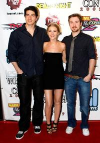Brandon Routh, Anita Briem and Sam Huntington at the IESB.net's Wrath of Con during the Comic-Con 2009.
