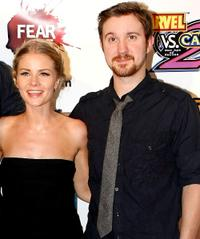 Anita Briem and Sam Huntington at the IESB.net's Wrath of Con during the Comic-Con 2009.