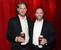 Noah Huntley and Rick Oleshak at the Stella Artois launch of the Timeless Beauty Campaign.