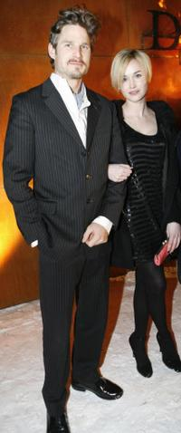 Noah Huntley and Dominique McElligott at the world premiere of