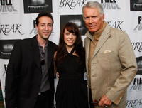 Director Marc Clebanoff, Mackenzie Fergins and Chad Everett at the premiere of