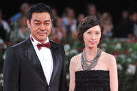 Lau Ching-Wan and Amy Kwok at the premiere of