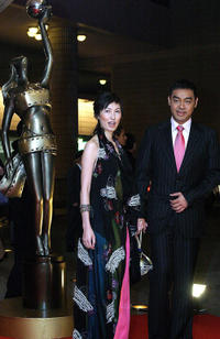 Amy Kwok and Lau Ching-Wan at the 23rd Hong Kong Film Awards in China.