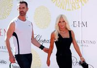 Rupert Everett and Donatella Versace at the 64th Venice International Film Festival.