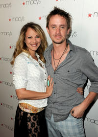 Selena Fara and Chad Lindberg at the Macy's Passport Presents Glamorama, Fashion Extravaganza in California.