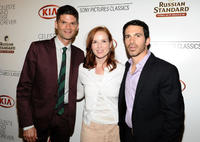 Will McCormack, producer Jennifer Todd and Chris Messina at the after party of