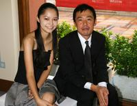 Aoi Miyazaki and Ken Mitsuishi at the premiere of