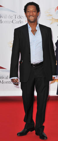 Edouard Montoute at the opening night of 51st Monte Carlo TV Festival in Monaco.