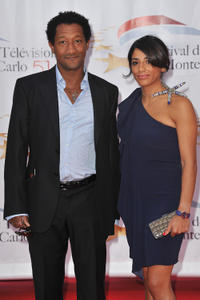 Edouard Montoute and Loubna at the opening night of 51st Monte Carlo TV Festival in Monaco.