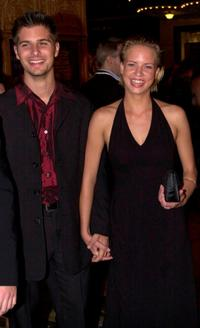 Ryan Johnson and Jessica Napier at the premiere of