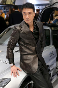 Francis Ng at the IWC booth during the Salon International de la Haute Horlogerie in 2013.
