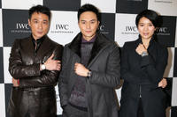 Francis Ng, Julian Cheung and Anita Yuen at the IWC booth during the Salon International de la Haute Horlogerie in 2013.