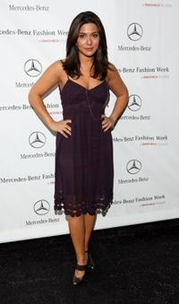 Marisol Nichols at the Mercedes Benz Fashion Week.
