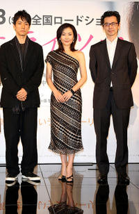 Hidetoshi Nishijima, Miho Nakayama and director Lee Jae-han at the press confrence of