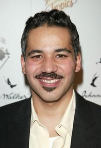 John Ortiz at the after party of the play