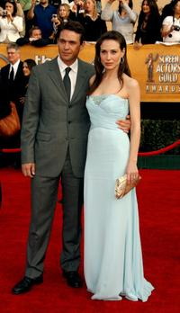 Dougray Scott and Claire Forlani at the 13th Annual Screen Actors Guild Awards.