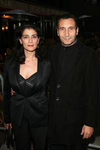 Zinedine Soualem and his wife at the opening night of the first edition of International Rendez Vous Cinema Verite.