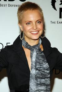 Mena Suvari at the scarf collection at Bloomingdales.