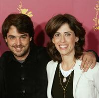 Director Andruche Waddington and Fernanda Torres at the photocall of