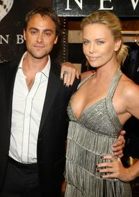 Stuart Townsend and Charlize Theron at the Barneys Celebration of Benjamin Bixby's Fall 08 - Spring 09 Menswear Collection during the Mercedes-Benz Fashion Week Spring 2009.