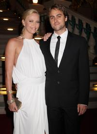 Charlize Theron and Stuart Townsend at the landmark Grand Opening of Atlantis, The Palm Resort, and the Palm Jumeirah.