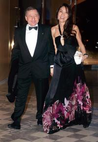 Michelle Yeoh and Scuderia Ferrari Jean Todt at the 2007 FIA Prize Giving gala.