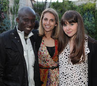 Derrick Ashong, Joanna Adler and Rachel Fleischer at the California premiere of