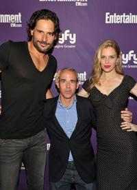 Joe Manganiello, Jess Cagle and Kristin Bauer at the EW and SyFy party during the Comic-Con 2010.