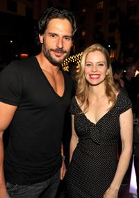 Joe Manganiello and Kristin Bauer at the EW and SyFy party during the Comic-Con 2010.