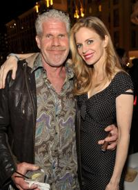 Ron Perlman and Kristin Bauer at the EW and SyFy party during the Comic-Con 2010.