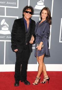 Musician Neal Schon and Ava Fabian at the 53rd Annual Grammy Awards in California.