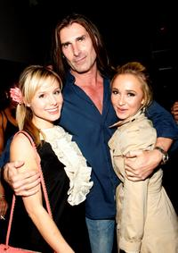 Kristen Bell, Fabio and Hayden Panettiere at the grand opening of