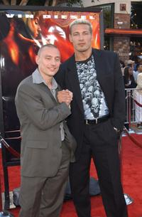 Werner Daehn and Petr jakl at the premiere of