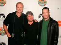 Bill Fagerbakke, Stephen Hillenburg and Tom Kenny at the premiere of