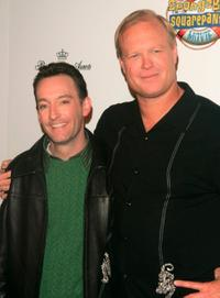 Tom Kenny and Bill Fagerbakke at the premiere of