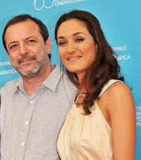 Director Semih Kaplanoglu and Basak Koklukaya at the photocall of